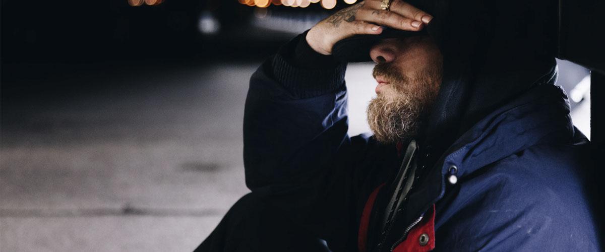 depression help - man on street